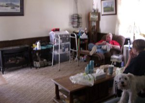 Hoarder Living Room After
