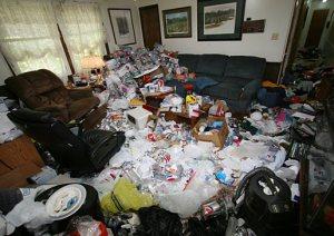 Hoarder Living Room Before