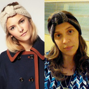I saw the headband on the left online at Anthropologie and liked it so much, I made my own